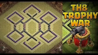 getlinkyoutube.com-CoC - Town Hall 8 Trophy Pushing/War Base 2015 | Dark Spell Factory (Best Defense Layout)
