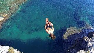 getlinkyoutube.com-Cliff Diving Italy - GoPro HERO3 + DJI Phantom2