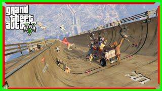 รางรถซิ่ง หญิงกระจาย GTA V-Funny Moment(MOD) Super Ramp