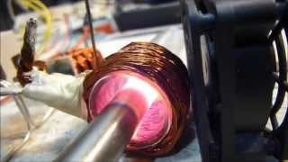 getlinkyoutube.com-Induction Heating With ZVS Driver - Flat Induction Coil Boiling Water and Litz Wire Coils