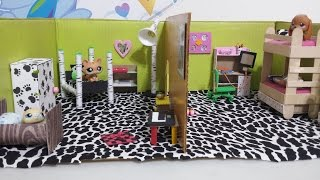 getlinkyoutube.com-How to Make LPS Dollhouse Bedrooms: Doll DIY
