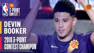 Devin Booker Wins the 2018 JBL Three-Point Contest   Record Setting Round with 28 3's