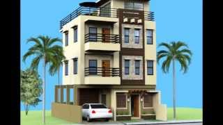 getlinkyoutube.com-Small 3 Storey House with Roofdeck