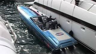 getlinkyoutube.com-CIGARETTE Powerboat - Foxtrot Oscar - Hafen Monaco - Top Gun -