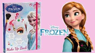 getlinkyoutube.com-DISNEY FROZEN MAKE UP BOOK with MAKEUP Elsa & Anna - Unboxing!!!
