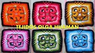 getlinkyoutube.com-muestra para colcha tejido a crochet pensamiento pequeño, video 1