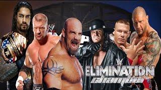 getlinkyoutube.com-Triple H vs Reigns vs Cena vs Goldberg vs Batista vs Undertaker WWE Elimination Chamber Match
