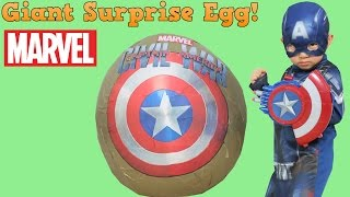 getlinkyoutube.com-Captain America Civil War Super Giant Surprise Toys Egg Opening Fun With Ckn Toys