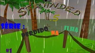 getlinkyoutube.com-Stranded 2.5! nova Série: Perdido na Ilha #1: Construindo abrigo
