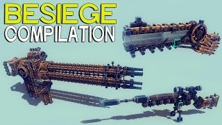 getlinkyoutube.com-►Besiege Compilation - Interesting Guns and Mechanisms