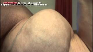 biceps peak close up