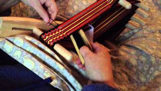 getlinkyoutube.com-More inkle weaving!  On our little inkle looms...