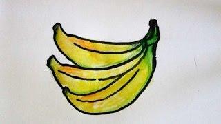 getlinkyoutube.com-cara menggambar buah pisang