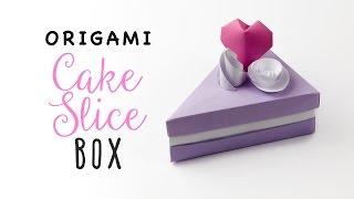 getlinkyoutube.com-Origami Cake Slice Box Tutorial ♥︎ Triangular Box ♥︎ Paper Kawaii