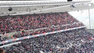 "getlinkyoutube.com-Arsenal fans singing at Newcastle (away end)19 / 5 / 13 ""Are u Watching tottenham"""