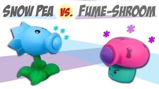 Plants vs. Zombies Snow Pea Shooter VS. Fume-Shroom Ball Popper