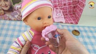 getlinkyoutube.com-Говорящий пупс с мимикой. Игрушка для девочек / Toy baby doll for girls