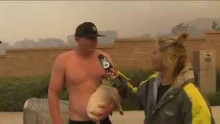 getlinkyoutube.com-Shirtless Man Asks Out KTLA Anchor During Wildfire 4/30/2014