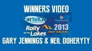 Cartell.ie Killarney Rally of the Lakes 2013 - Winners Gary Jennings and Neil Doherty