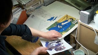 getlinkyoutube.com-「ルパン三世」浮世絵木版画の制作過程にカメラが密着!