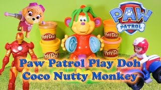 PAW PATROL Nickelodeon Paw Patrol Play Doh Coco Nutty Monkey Monkey a A Paw Patrol Play Doh Video