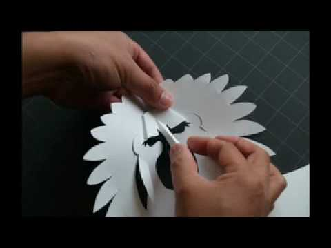 How to Make a Kirigami Indian Chief Pop-up Card