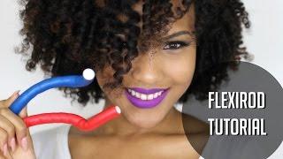 getlinkyoutube.com-Flexirods on Natural Hair