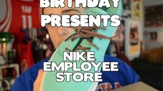 getlinkyoutube.com-Birthday Presents - Nike Employee Store Haul!