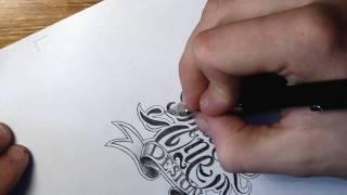 getlinkyoutube.com-Theosone Custom Lettering sketch