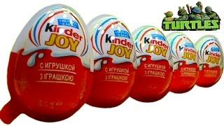 getlinkyoutube.com-TMNT Teenage Mutant Ninja Turtles Kinder Joy unboxing toys Sorpresa juguetes Alegría abierto