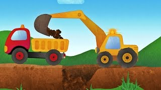 getlinkyoutube.com-Tony the Truck & Construction Vehicles -  App for Kids: Diggers, Cranes, Bulldozer