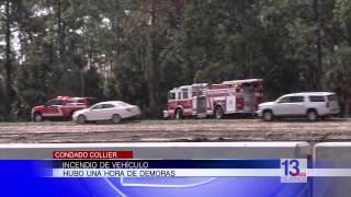 Incendio de vehículo en el Condado Collier