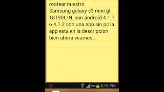 getlinkyoutube.com-Como rootear s3 mini sin pc gt 18190L/N