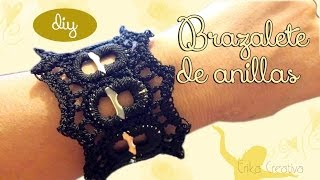 getlinkyoutube.com-#Tutorial #Brazalete de anillas