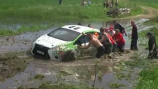 getlinkyoutube.com-67 Rajd Polski, OS Zalesie - woda   67th Rally Poland, SS Zalesie