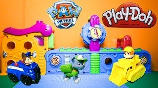 getlinkyoutube.com-PAW PATROL Nickelodeon Paw Patrol Fix Play Doh Mega Fun Play Doh Factory Toys Video Parody