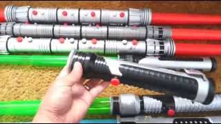 getlinkyoutube.com-SMU Toys Star Wars Lightsaber Collection