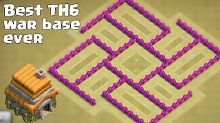 getlinkyoutube.com-Clash of clans - Best TH6 (Town Hall 6) War Base Ever [Anti Giant, Anti Balloon] + Replays