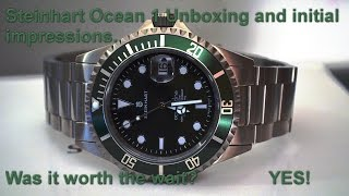 getlinkyoutube.com-Steinhart Ocean 1 (Green) Unboxing and Initial Impressions