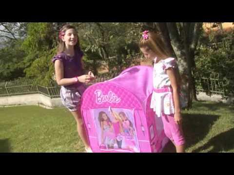 Barbie linha Camping - Barraca Mesa com Cadeira e Relogio Bracelete