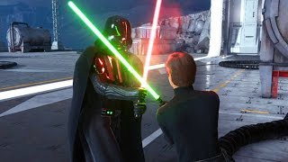 getlinkyoutube.com-Star Wars Battlefront: Darth Vader vs Luke! I AM YOUR FATHER!