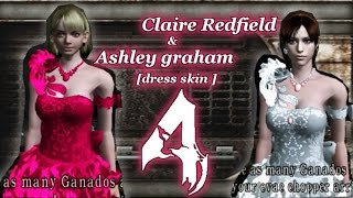 getlinkyoutube.com-Ashley Graham & Claire Redfield Mod resident evil 4 [dress cosplay]