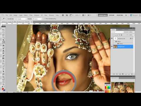 Photoshop Tools -How to make more beautiful Aishwarya Rai- Part 1