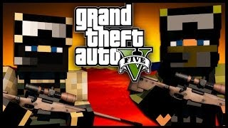 getlinkyoutube.com-Minecraft - GTA V Mod - Grand Theft Auto 5 - AUTO-SNIPER CHALLENGE!