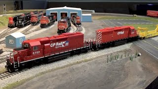 Layout Update - February 2016: Bowser SD40-2, A-Line/IMR Twin Stack, NARC Potash Cars, The End...