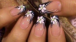 getlinkyoutube.com-Formal Event Black & White Nail Art Design Tutorial