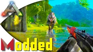 getlinkyoutube.com-ARK: Pooping Evolved Modded - How to Outrun and Tame a Giga on Foot! S1E16 Gameplay