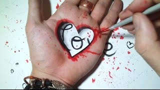 getlinkyoutube.com-4 Cute Heart Trick Art [Tuto]