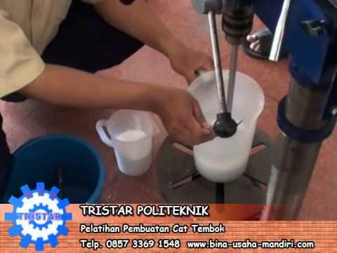 Training Cara Membuat Cat Tembok. Pelatihan Wira Usaha Tristar. Info: 031 - 81639991