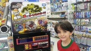 getlinkyoutube.com-Beyblade Japan Trip Day 10 - Beyblade Arcade Machine at Bic Camera , Shinjuku  Tokyo